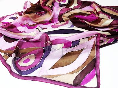 Fatörzs selyem kendők, kézzel festve - ideális ajándék nőknek