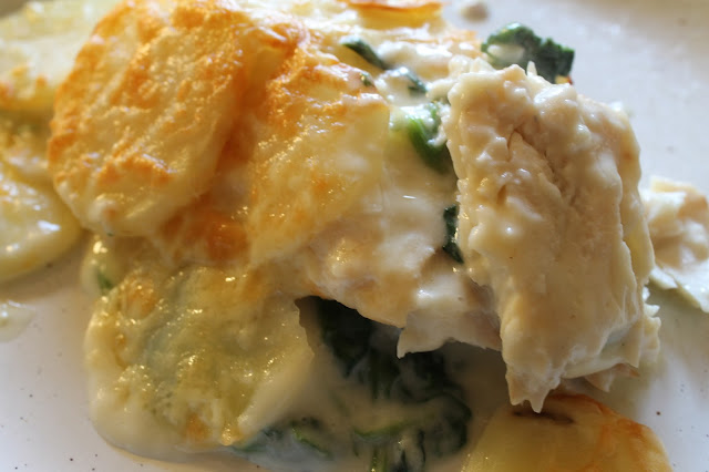 smoked haddock florentine bake mornay spinach fish