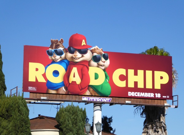 Alvin and Chipmunks Road Chip movie billboard