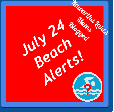 July 24 2014 Beach Alerts Kawartha Lakes Mums Blogged Swimming Safety Questionable