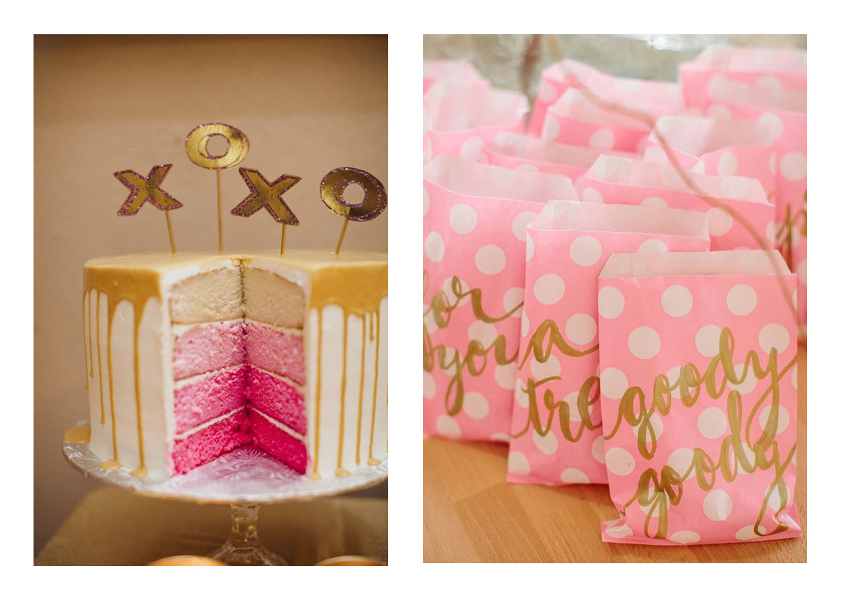 birthday party blog party trends pink and gold