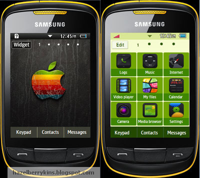 Samsung Corby 2 Theme: Striped Apple | Corby 2 Downloads