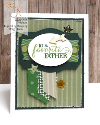 Inspired by Stamping, Mynn Kitchen, Big Wonderful stamp set, Happy Sentiments stamp set, Fancy Labels 3 Die, father's day card