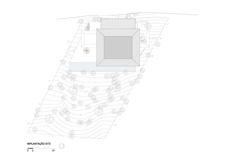 Site plan of AMB House by Jacobsen Arquitetura