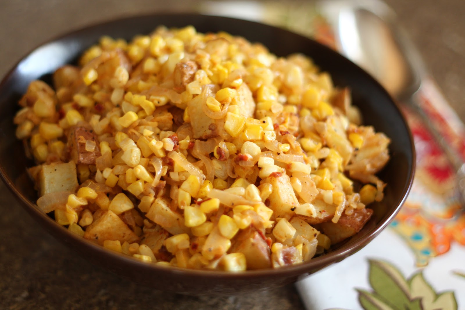 ... In The Kitchen: Chipotle Corn and Caramelized Onion Potato Salad