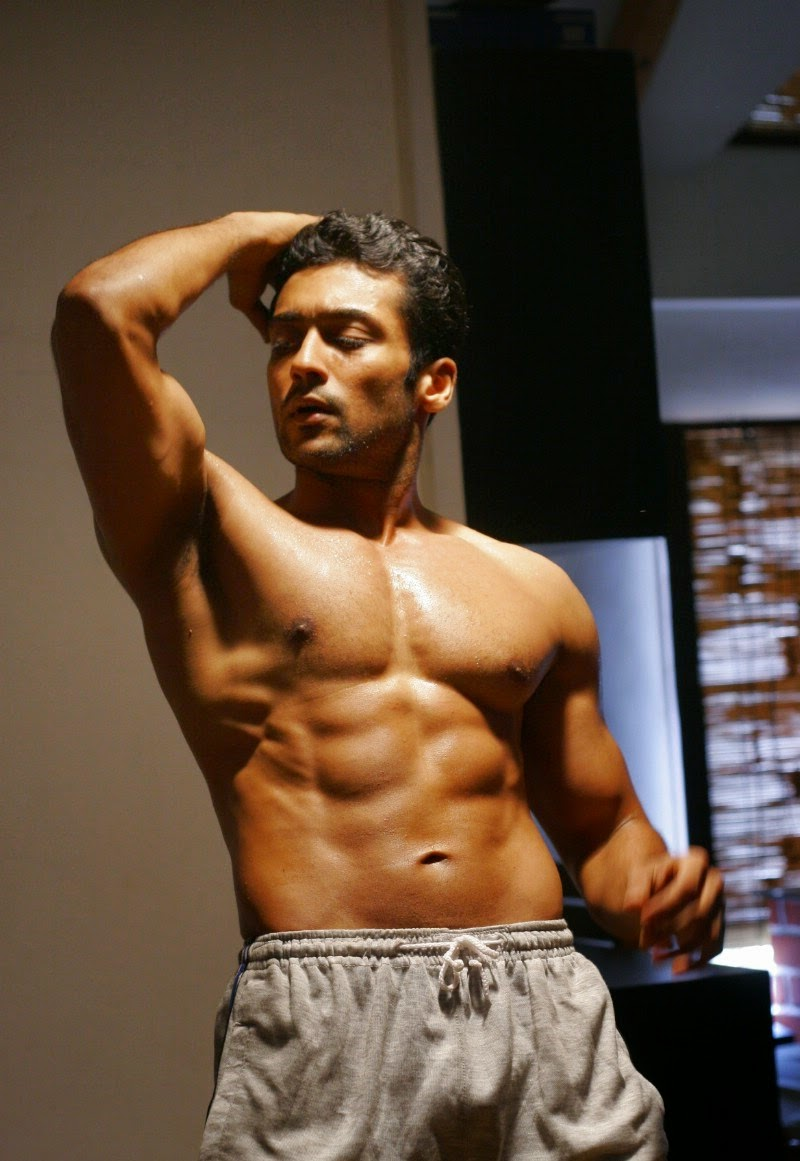 Surya Body Building Six Pack New Images Indian Actress