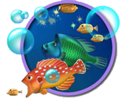 صورة من داخل لعبة السمكة Feeding Frenzy