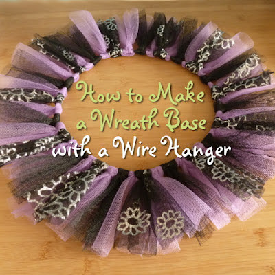 Turn an old wire clothes hanger into a wreath form with this tutorial