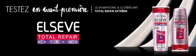 300 shampooings et après-shampooings Elsève Total Repair Extrême