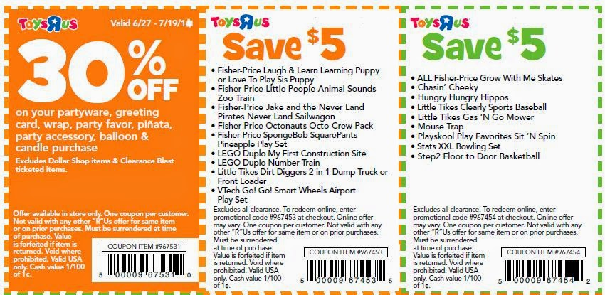 Toys r coupons printable