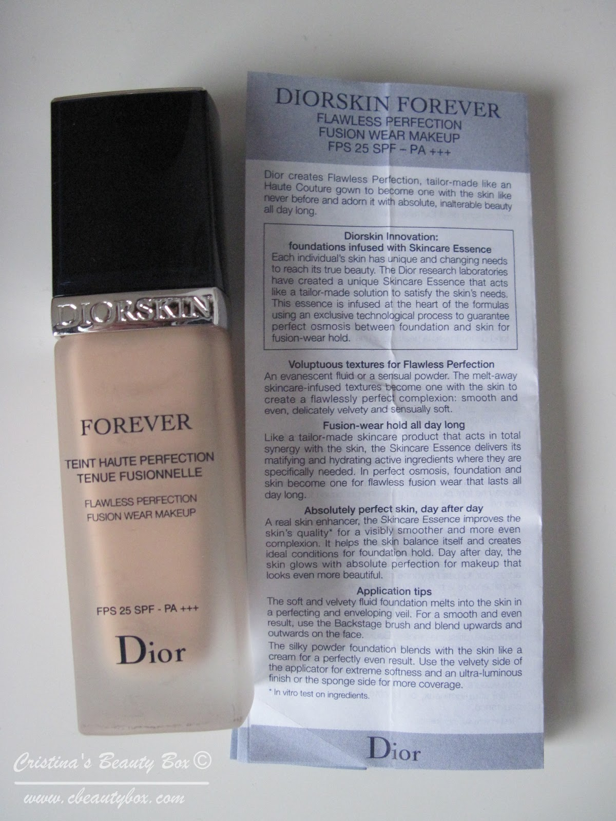 dior diorskin forever flawless foundation review cristina elena. Black Bedroom Furniture Sets. Home Design Ideas