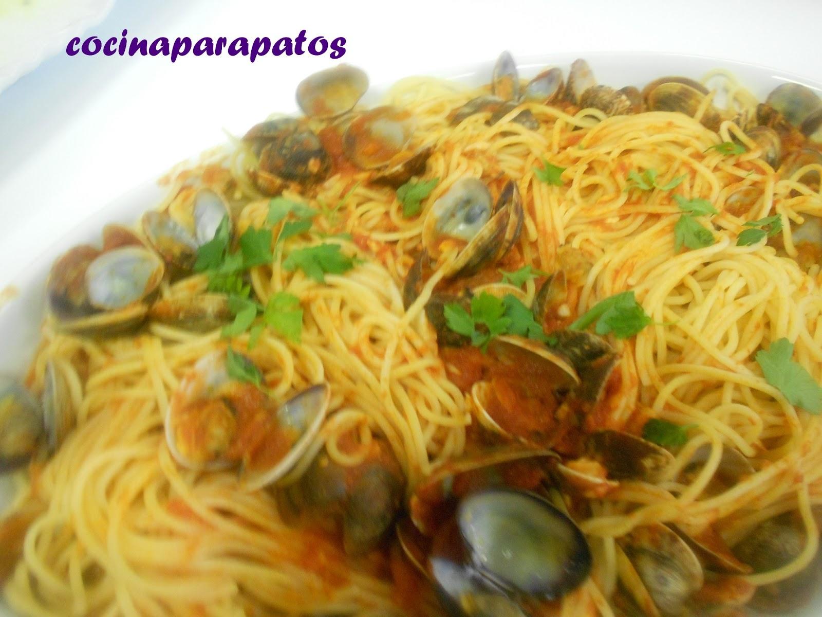 Cocina para patos espaguetis con almejas - Espaguetis con almejas ...