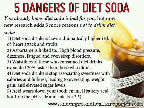 5 Dangers of Diet Sodas
