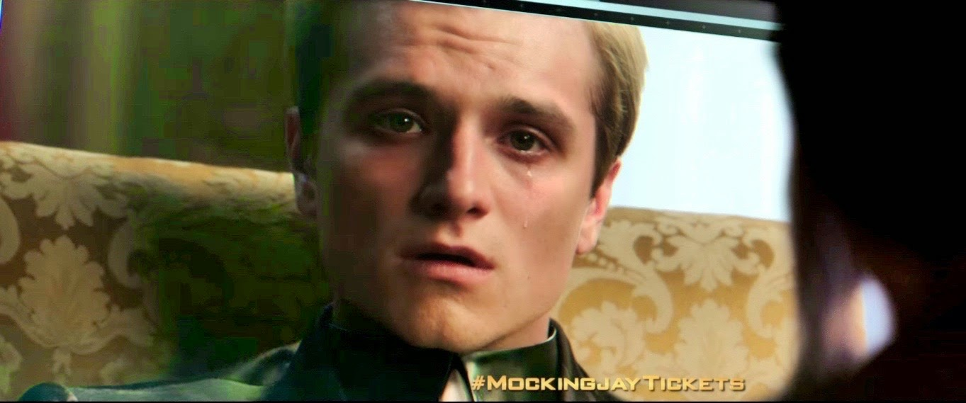 most anticipated mockingjay tv spot music peeta crying