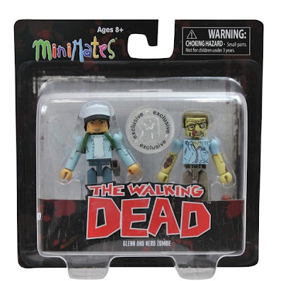 TRU Exclusive The Walking Dead Comic Book Minimates 2 Pack - Glenn & Nerd Zombie