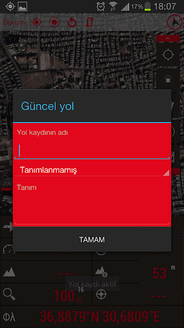 Akıllı telefonda navigasyon