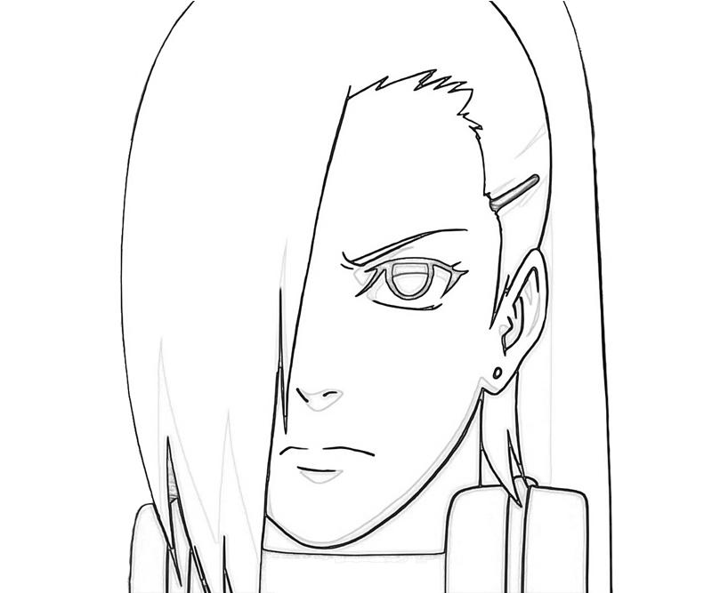 Printable Naruto Ino Character Coloring Pages title=