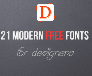 21 Modern Free Fonts For Designers Blogger Template | DheTemplate