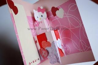 Hello kitty birthday pop up card
