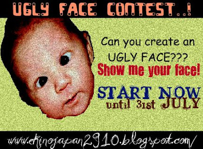 SAYA JOIN UGLY FACE CONTEST