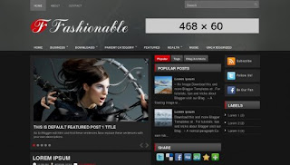 Fashionable Blogger Template
