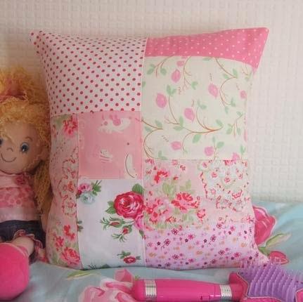 almofadas em patchwork infantil passo a passo