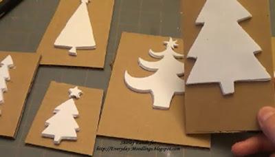 Mount onto cardboard
