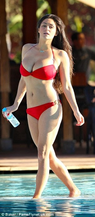 Casey Batchelor sexy bikini candids in Ibiza photo 6