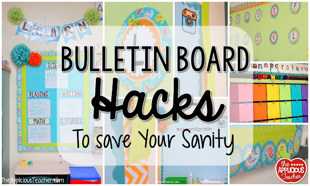 Classroom Decor Hacks ~ Bulletin board hacks to save your sanity the applicious