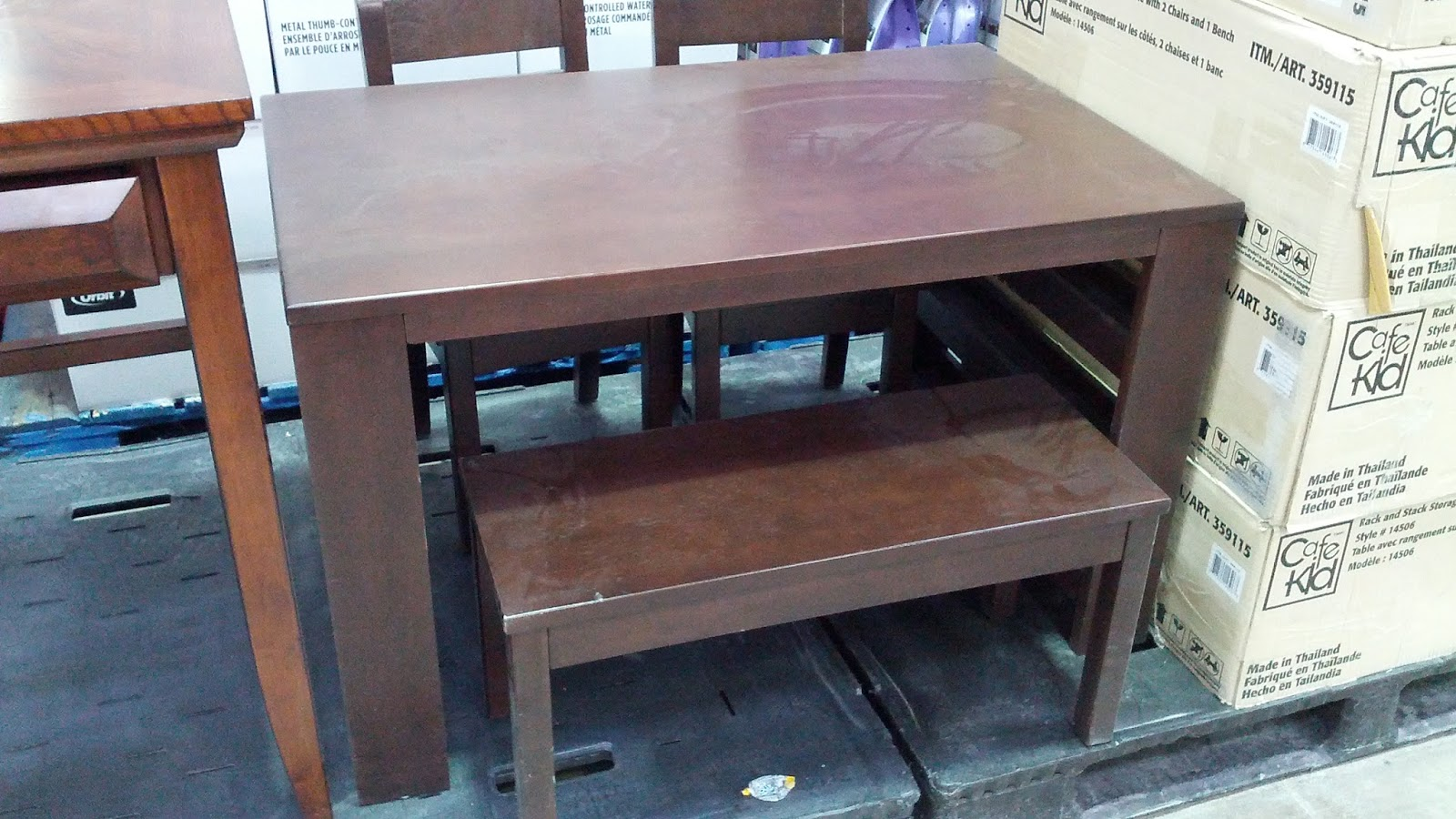 Cafekid Rack and Stack Table with 2 Chairs and Bench