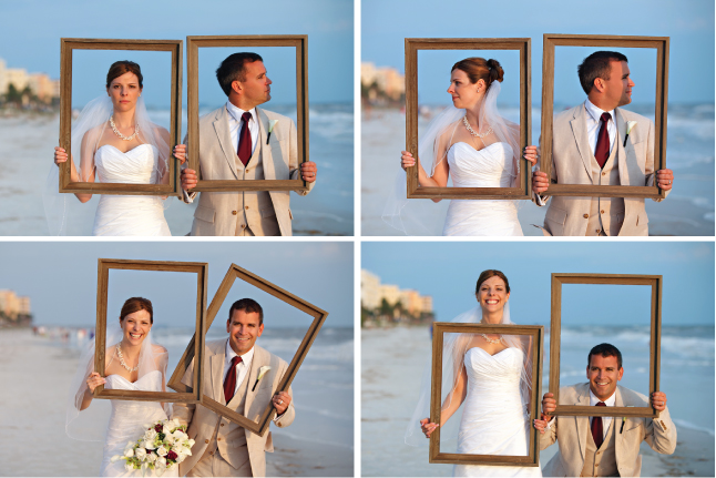Frames As Props Wedding Ideas
