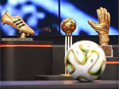 Adidas released golden ball, golden boot and golden glove for World Cup 2014