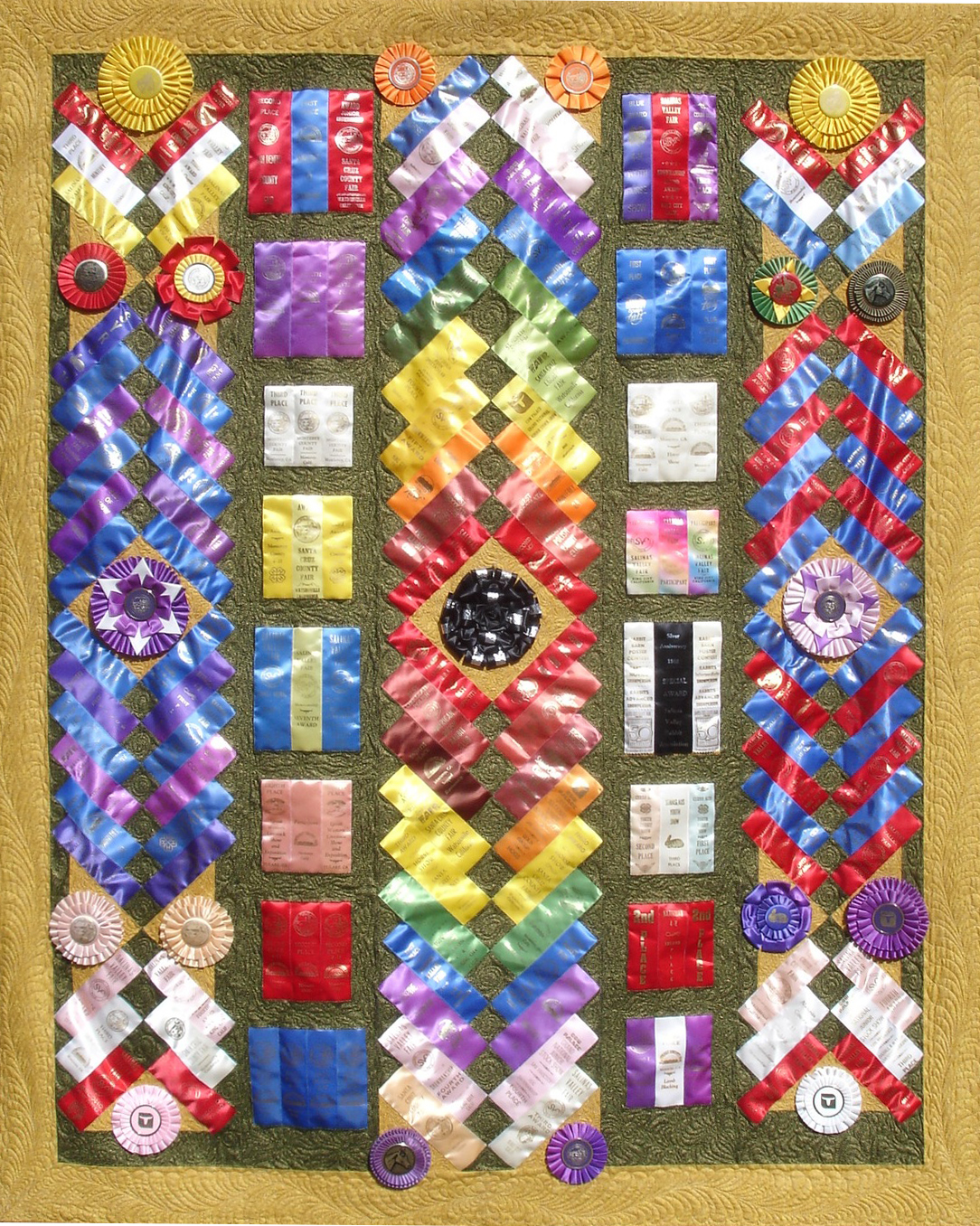 Ribbon quilts on pinterest ribbon quilt horse show for What to do with an old quilt