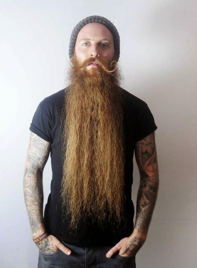 Cool Long Beard Tattoos