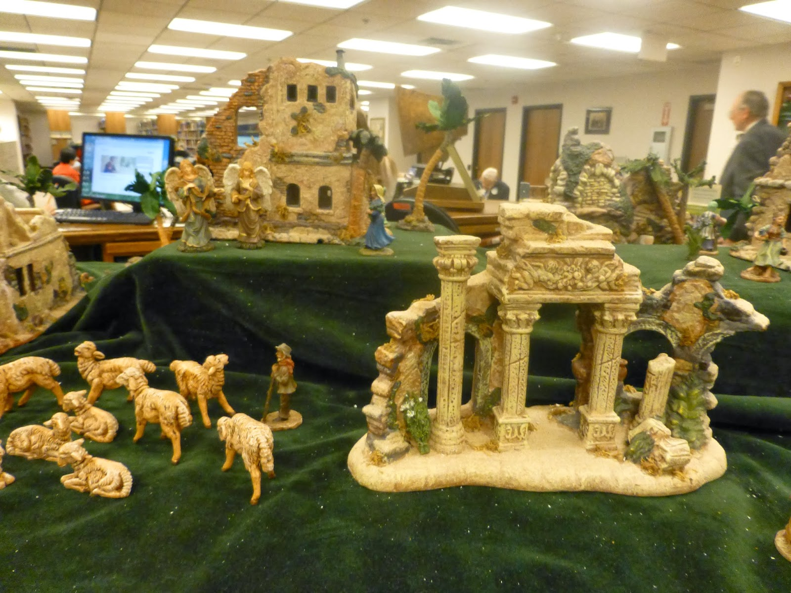 Set of nativity pieces ever it must be the whole town of bethlehem