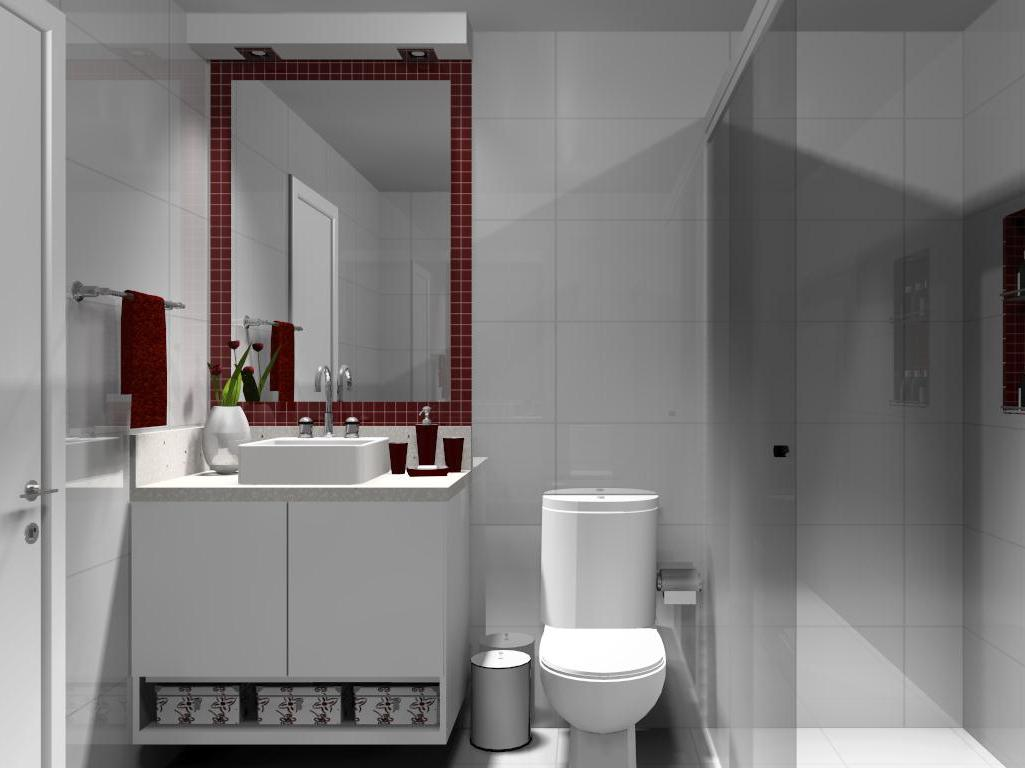 Help na Reforma 10 IDÉIAS DE APLICAÇÃO DE PASTILHAS EM BANHEIRO -> Banheiro Com Faixa De Pastilha Preta