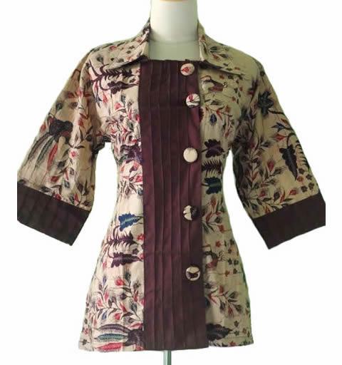 model baju blus batik wanita
