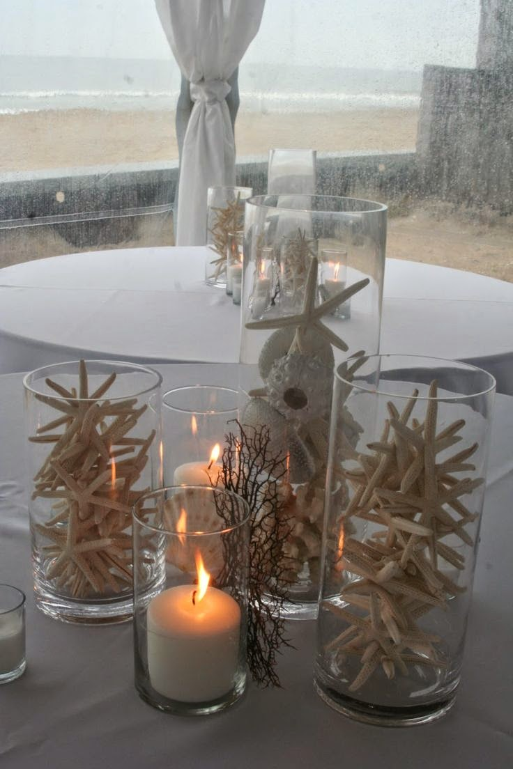 A bride s bff non floral beach wedding centerpiece ideas