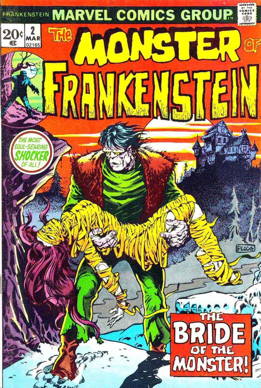 Marvel Comic Book Cover Art : Frankenstein v mike ploog art cover pencil ink