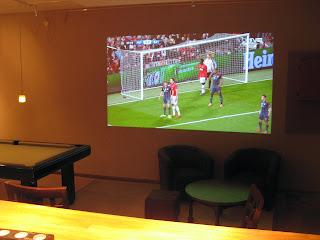 Sport sur écran géant