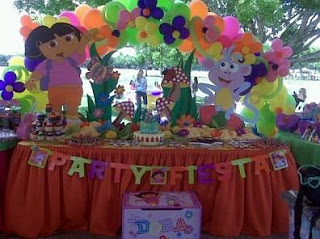 Children's Parties Decoration Dora the Explorer