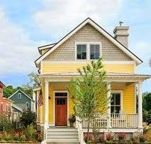 A mi manera pintar la casa de amarillo por fuera for Colores para afuera de la casa