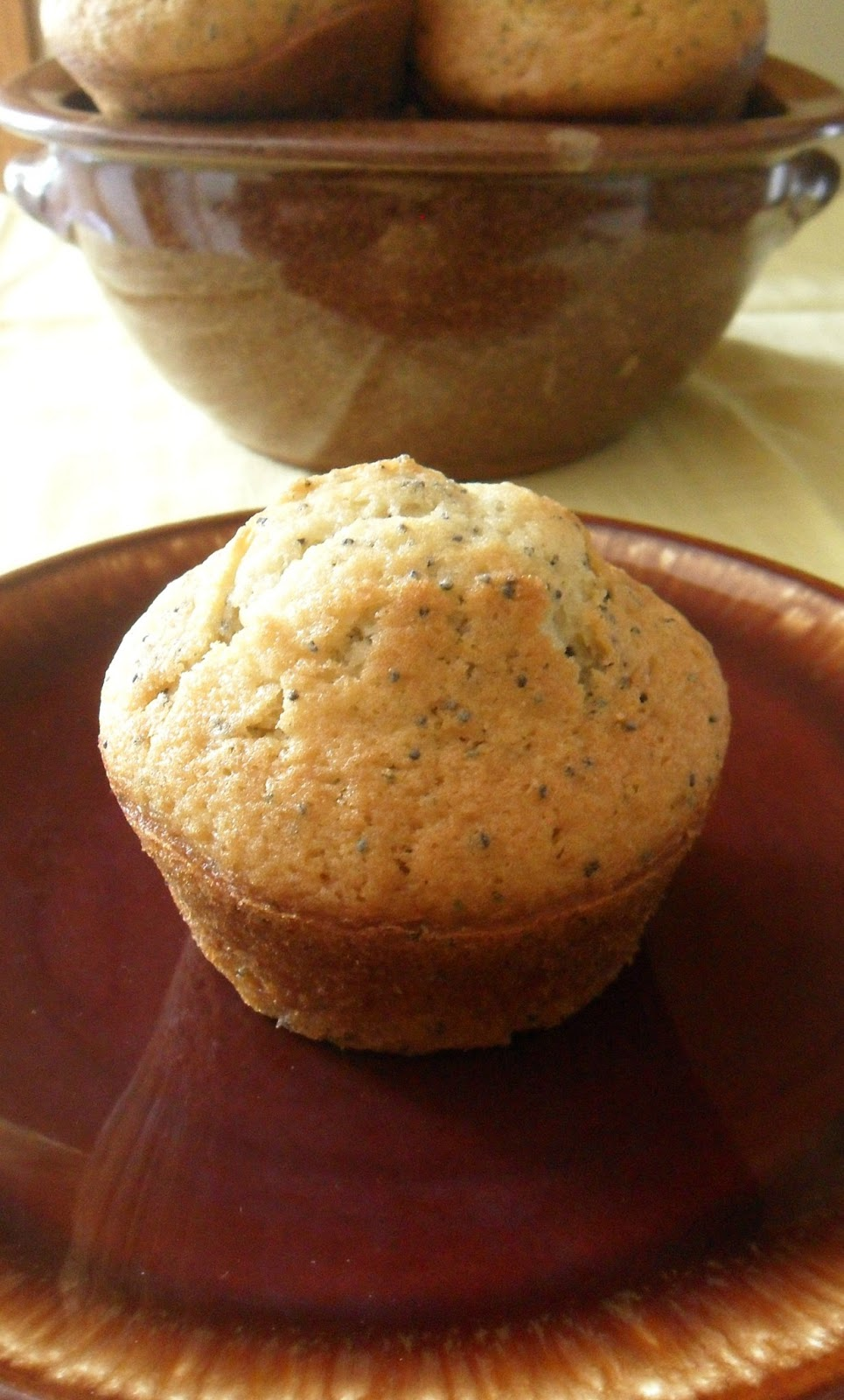 Lemon Poppy Seed Muffins (adapted from Food.com )