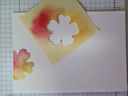 Sponging and masking Let's start at the very beginning sponging zena kennedy independant stampin up demonstrator