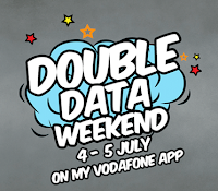 Buy a 1GB or 2GB 3G pack on ?#?MyVodafoneApp? and get double the data