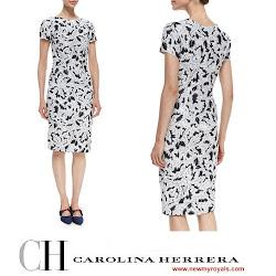 Queen Letiza Style - CAROLINA HERRERA Dress
