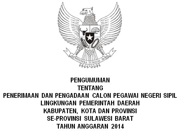 Pengadaan CPNS Sulawesi Barat
