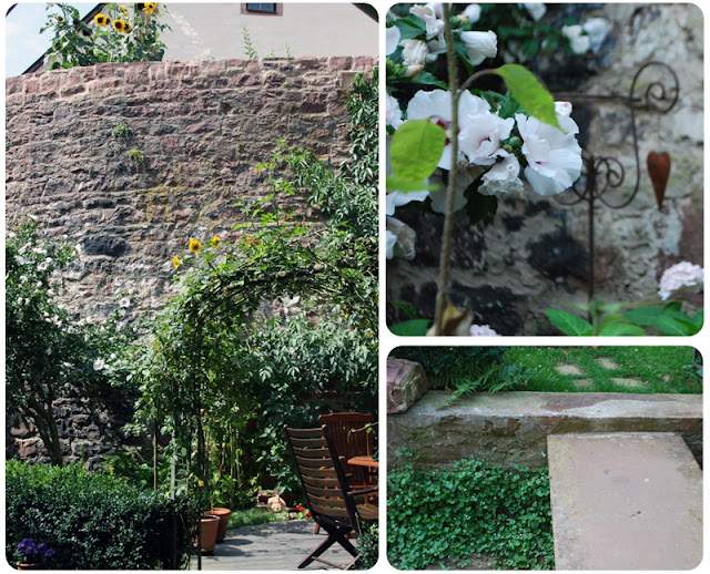 Lohrer Stadtmauer mit Garten