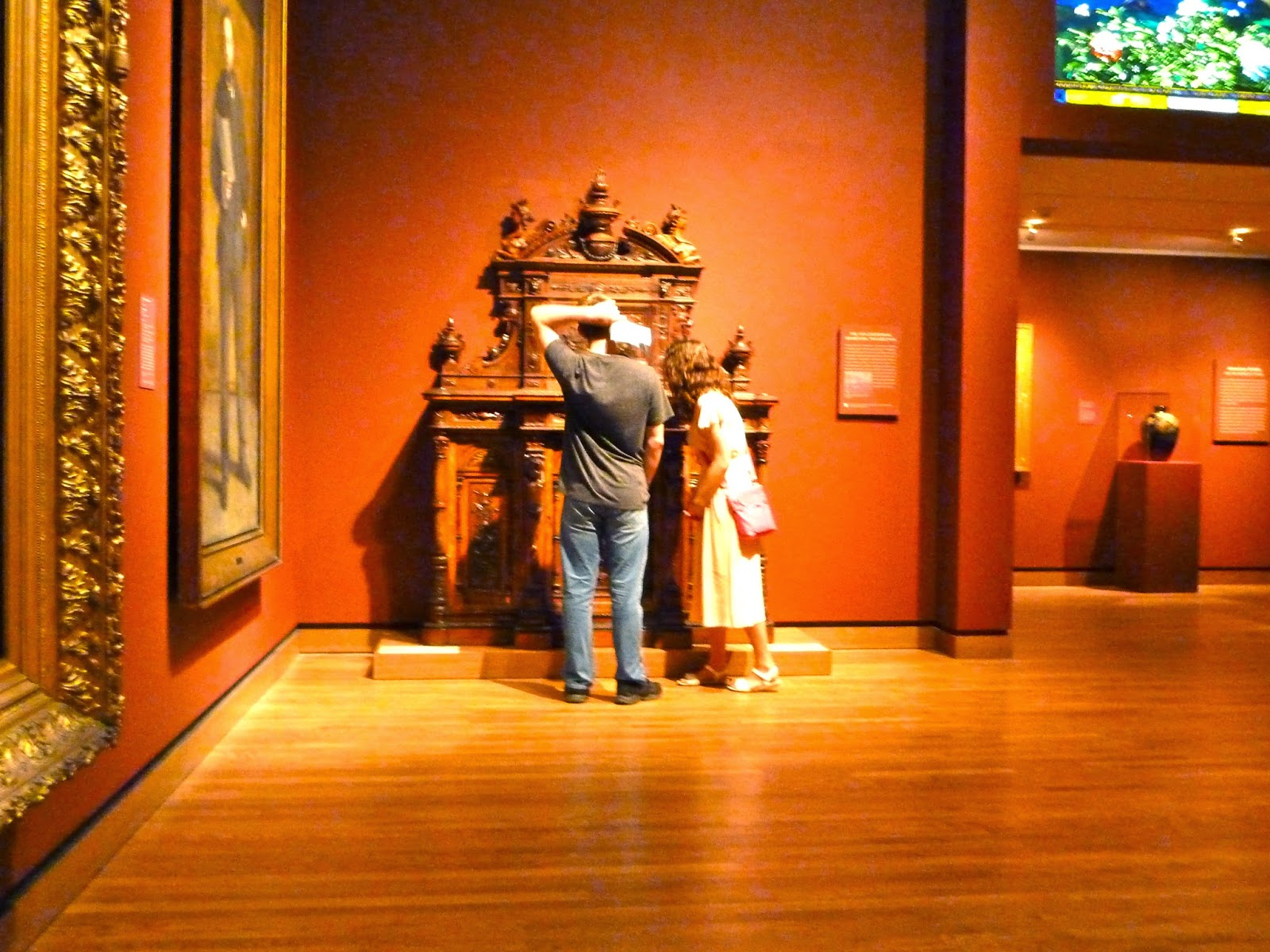 a couple in a museum