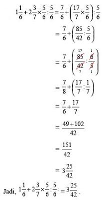 cara menghitung perkalian pecahan campuran  Belajar Matematika